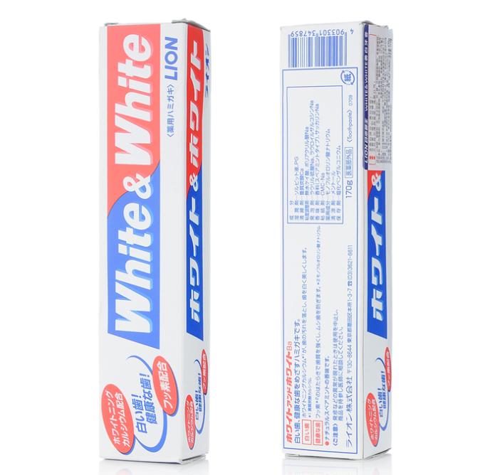 狮王 WHITE 美白牙膏150g