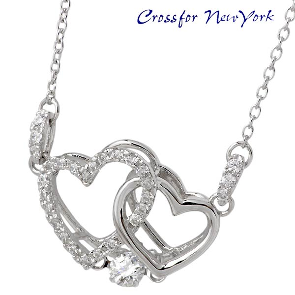 Crossfor 纽约圣心银项链
