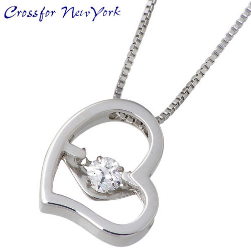 Crossfor 纽约 银项链 心形