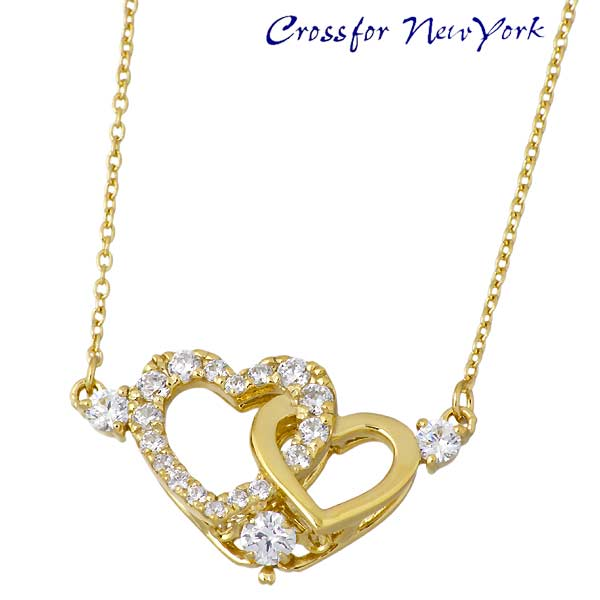 女士银项链 Crossfor NewYorkPure 心形 黄色