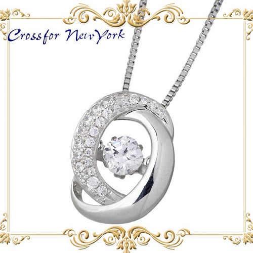 女士银项链 Crossfor 纽约 银配件