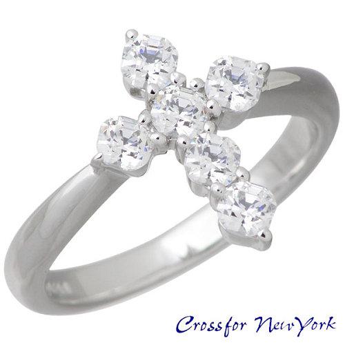 Crossfor 纽约 十字 银戒指