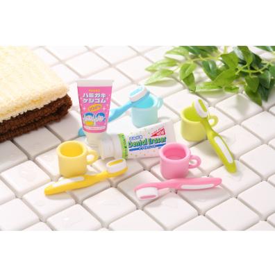 日本Iwako有趣的橡皮擦 牙膏牙刷 ER-HAM002