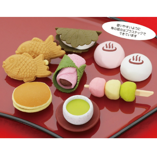 日本Iwako趣味橡皮擦 日式点心造型 ER-WAG001