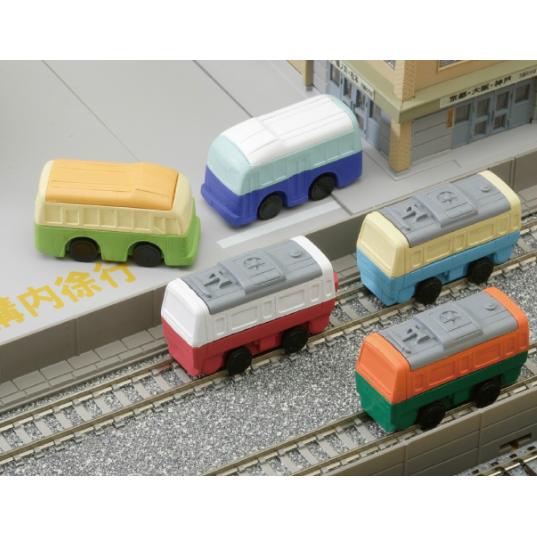 日本Iwako趣味橡皮擦 电车巴士造型 ER-DEN001