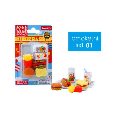 日本Iwako趣味橡皮擦 快餐系列 泡罩包装 ER-981099