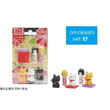 日本Iwako趣味橡皮擦 人偶 招财猫 泡罩包装 ER-BRI020