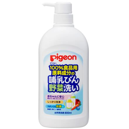 日本 贝亲(Pigeon)奶瓶清洗剂 果蔬清洗液 婴儿奶瓶清洁剂800ML