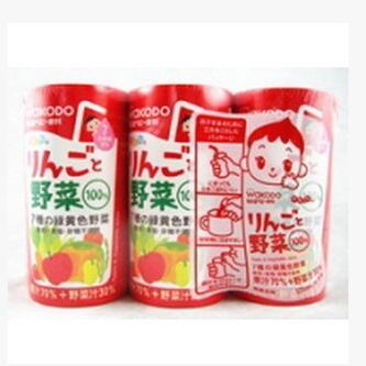 日本 和光堂wakodo 纯天然苹果蔬菜果汁 宝宝饮料