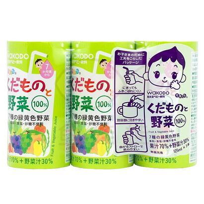 日本 和光堂wakodo 婴儿果汁 什果+什菜  蔬菜水果