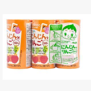 日本 和光堂wakodo 婴儿果汁 胡萝卜+苹果 宝宝饮料