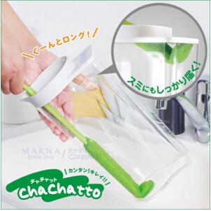 日本 Chachatto水杯清洁刷K476  长柄杯刷 实用方便 批发