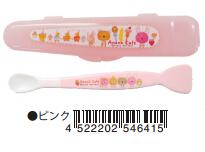 日本 Monseuil 婴儿捣碎器&汤匙  粉色 4522202546415