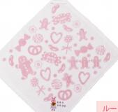 日本 Monseuil 绣花带挂圈毛巾 女孩粉 4522202304336