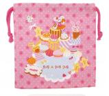 日本 Monseuil 儿童收纳包腰包S号 女孩粉 4522202304237