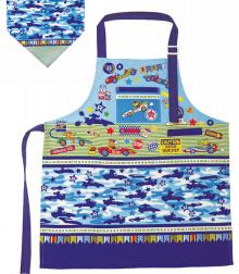 日本 Monseuil 儿童三角巾围裙 男孩蓝 4522202304367