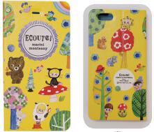 日本 Monseuil 翻盖式苹果手机壳 iPhone6/6s蘑菇图案 4522202804744