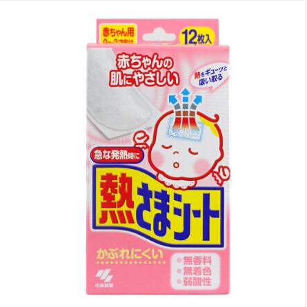 日本原装进口小林退热贴0-2岁婴儿感冒发烧降温6片-1